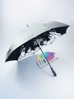Strong wind proof and double layer umbrella A005